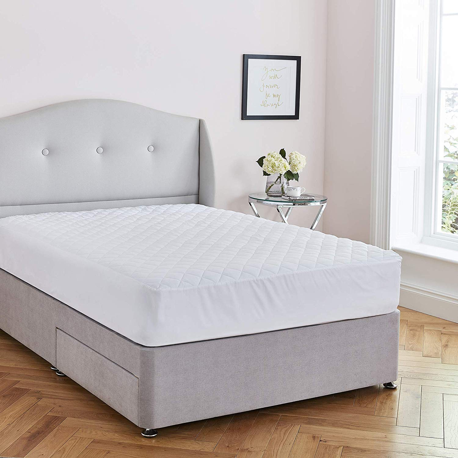 Highliving Terry Towelling Waterproof And Breathable Mattress Protector Bunk Bed All Sizes Fitted Sheet Bedding Linens Home Kitchen
