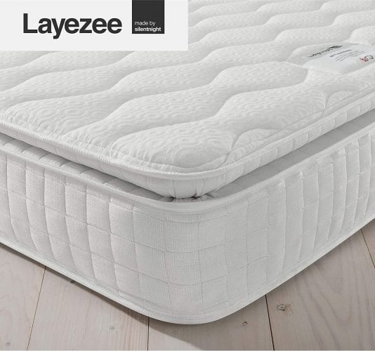 Layezee by Silentnight 800 Pocket Memory Pillow Top Mattress