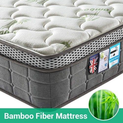 Lv. Life 4D Bamboo Fibre Mattress Pocket Springs and Memory Foam